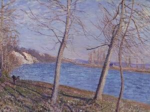 104879 4 Alfred Sisley Sulla riva del fiume a Veneux 1881 Johannesburg Art Gallery m